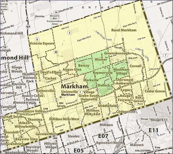 Central Markham Map
